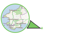 Pembrokeshire Address Map Footer